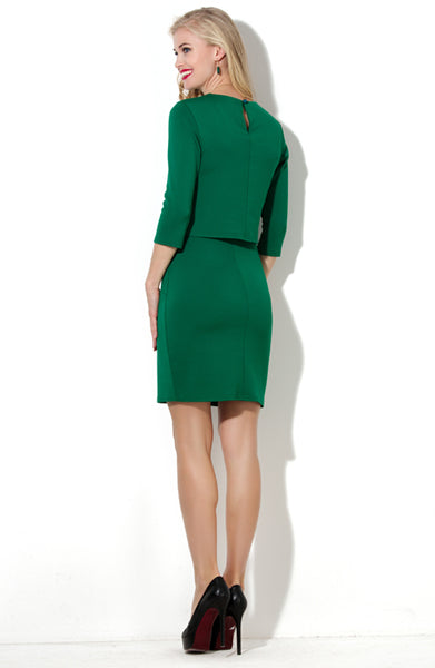 Dress DSP-187-73 in lush green