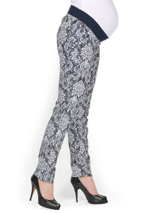 """Belita"" Maternity indigo pants 2 in 1"