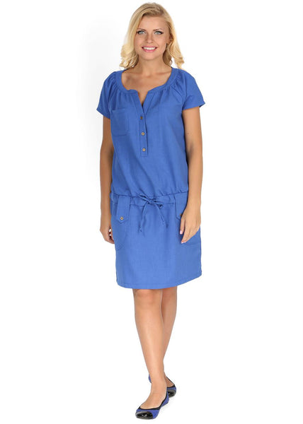 """Tracy"" Maternity and nursing dress; color: cornflowers"