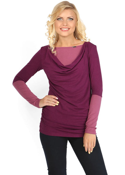 Marcella Maternity And Nursing Tunic In Cowberry