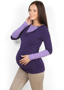 Marcella Maternity And Nursing Tunic purple