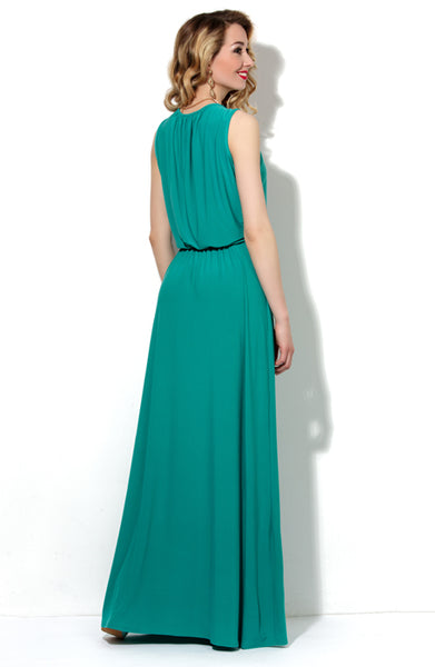 DSP-34-50t jade Dress length Maxi with a slouchy fit at the waist