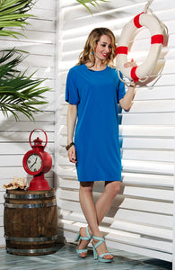 DSP-83-58 straight Dress cornflower