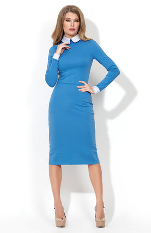 Dress DSP-157-43t hard case blue with white collar
