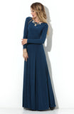 Dress DSP-211-41t length Maxi dark blue