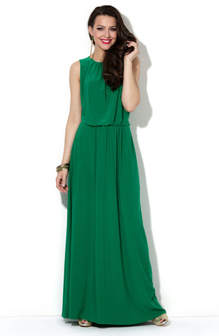 DSP-34-73 green Dress length Maxi with a slouchy fit at the waist