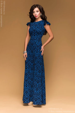 DSP-221-37t Dress Dior Indigo Maxi length
