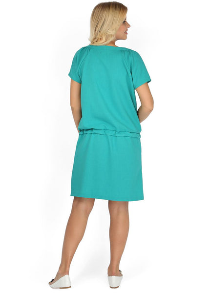 """Tracy"" Maternity and nursing dress; color: emerald"