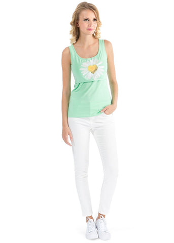 Alda Nursing Tank Top In apple-color
