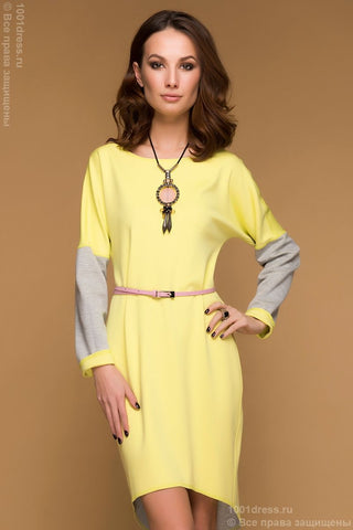 Dress DM00480YG multilevel two-way yellow-grey