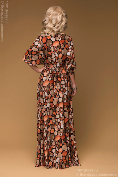 DM00479TC dress length Maxi with terracotta print