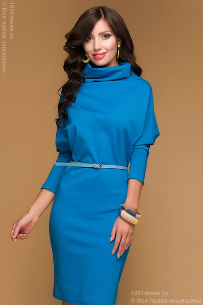 Sweater dress DM00063LB boxy blue