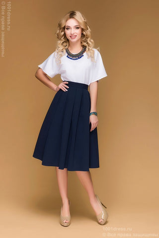 DM00482BL skirt dark blue MIDI length
