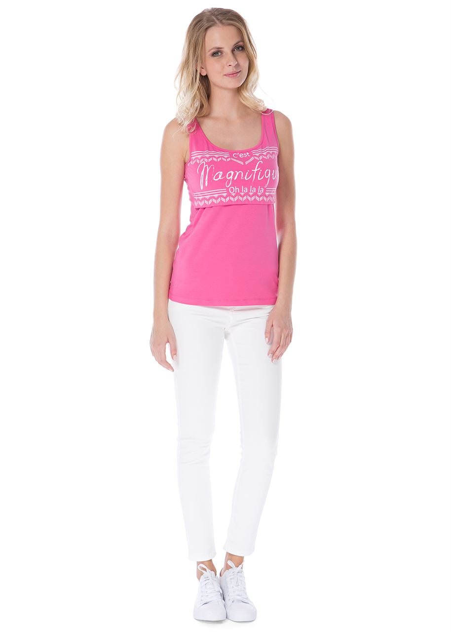 Alda Nursing Tank Top In Azalea