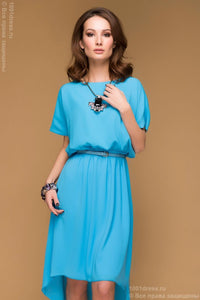 DM00517LB dress blue tiered short sleeve