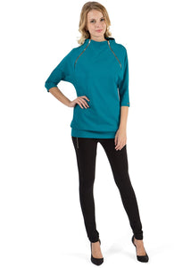 "Jumper ""Zemfira"" emerald for maternity"