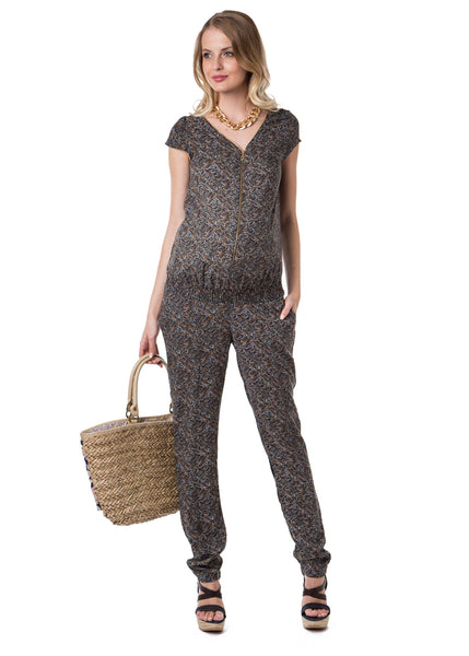 """Lyudvig"" Maternity green jumpsuit"
