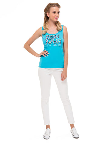 Alda Nursing Tank Top In light blue/bonjour