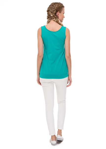 Greta Maternity And Nursing Tank Top in emerald