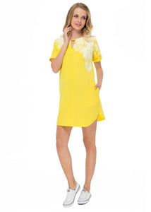 """Teara"" Maternity yellow dress"