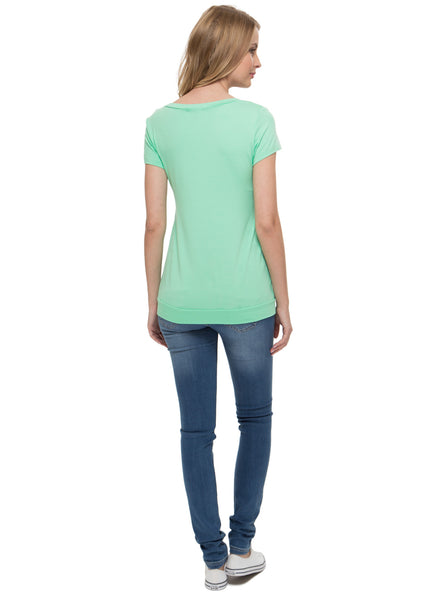 Maternity and nursing T-shirt Darsi in apple-color