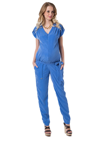 """Nelly"" Maternity cornflower jumpsuit"