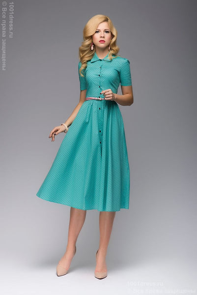 DM00624MN Dress mint MIDI length shirt top