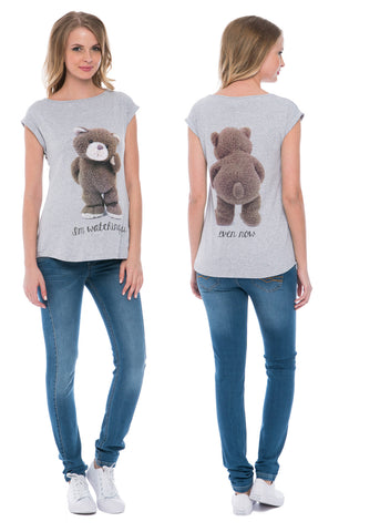 Christina Maternity T-Shirt melange with a bear