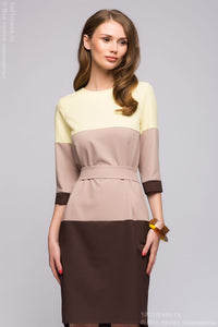 Dress DM00554BG split-level with beige insert