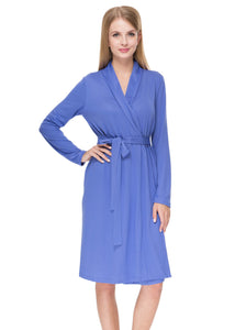 """Veres' Maternity cornflower dressing gown"