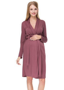 """Veres ' Maternity cappuccino dressing gown"