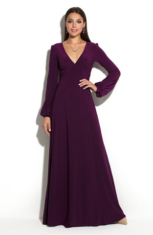 Dress DSP-231-86 length Maxi purple