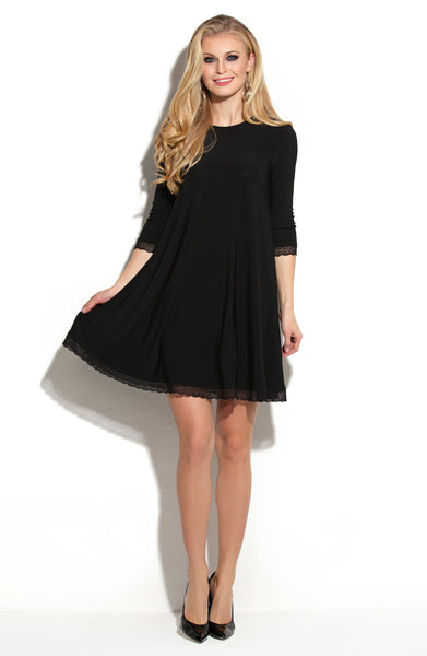 Dress DSP-255-4 cocktail black/lace