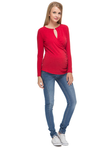 Blouse Zlata red maternity and nursing