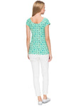 Nursing T-shirt FH07 color: emerald/birds
