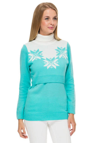 "Jumper ""winter"" Lazur for maternity and nursing"