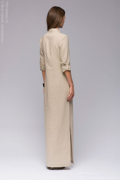 DM00652BG beige dress length Maxi with slits