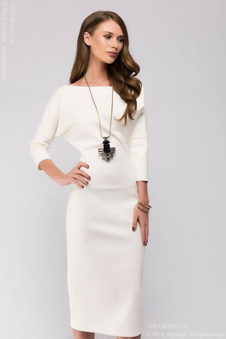 Dress DM00538VA vanilla MIDI length with a loose top