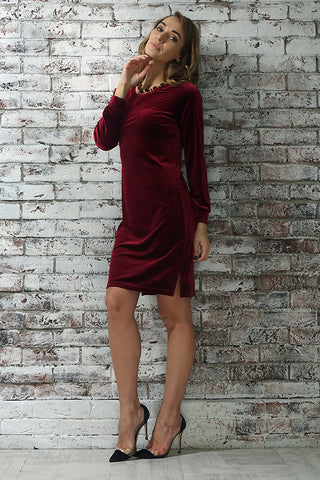 "Dress ""Monica"" color: Bordeaux"