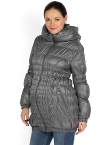 "Jacket ""Sandra"" demi 3in1 gray for pregnant women and babywearing"