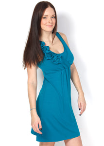 PV02 Maternity and nursing emerald dress