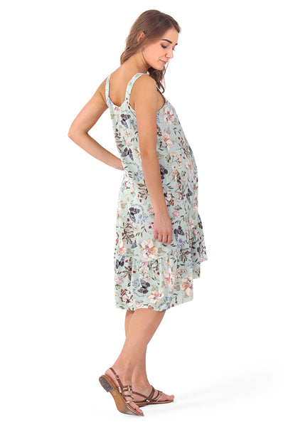 """Blue Belle"" maternity Sundress ; color: menthol"