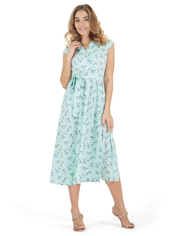 """Wendy"" Maternity and nursing dress; color: menthol"