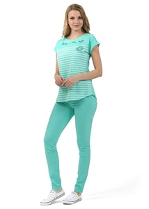 """Julian"" Maternity pants 2in1; color: menthol"