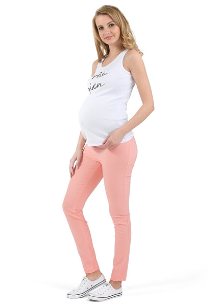 """Julian"" Maternity pants 2in1; color: peach"