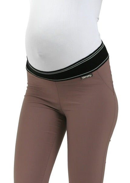 """Julian"" Maternity pants 2in1; color: coffee"