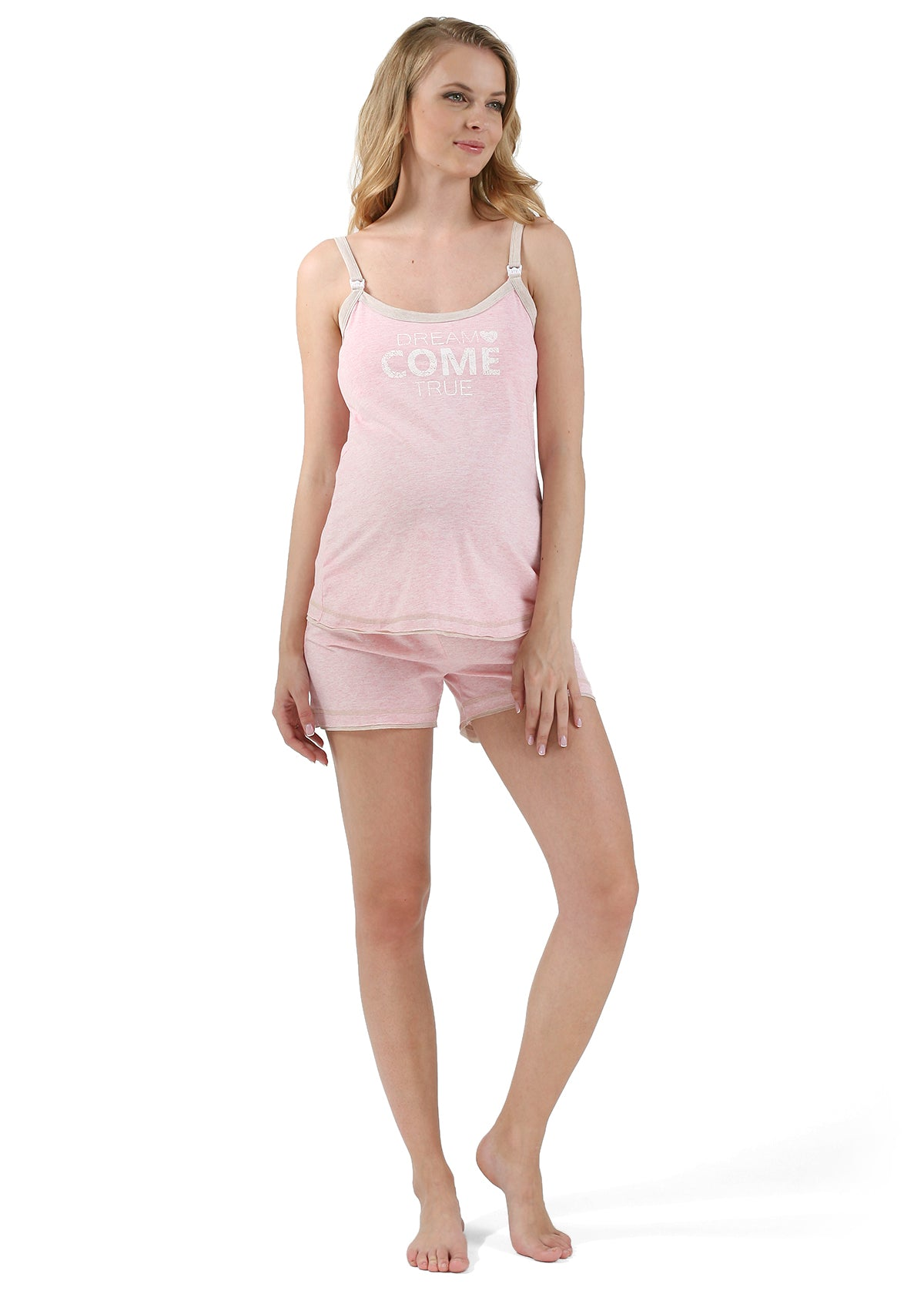 "Maternity and nursing Home kit ""Denise""; color: light coral"