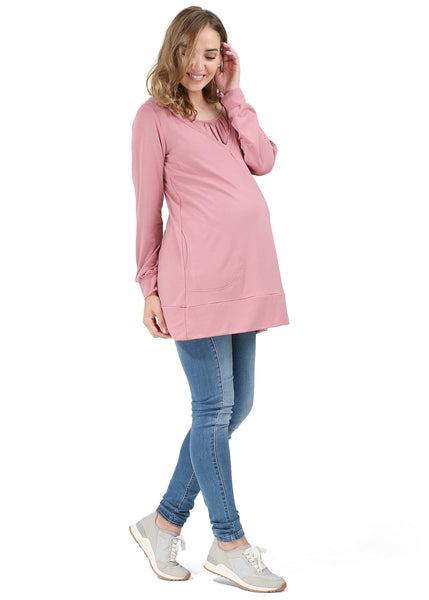 """Sophora"" maternity and nursing tunic; color: Orchid"