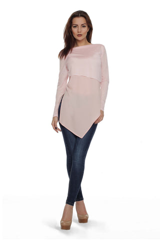 Jumper FH29824 elongated color: pale pink