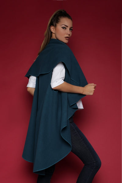 Poncho FH30092 color: dark turquoise